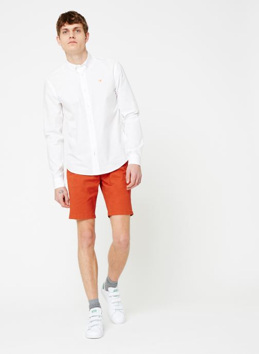 Vêtements Scotch & Soda REGULAR FIT - Classic crispy shirt Blanc vue bas / vue portée sac