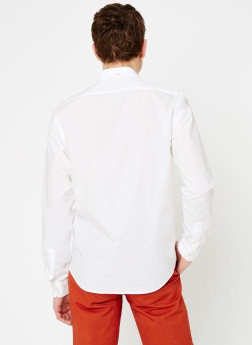 Vêtements Scotch & Soda REGULAR FIT - Classic crispy shirt Blanc vue portées chaussures