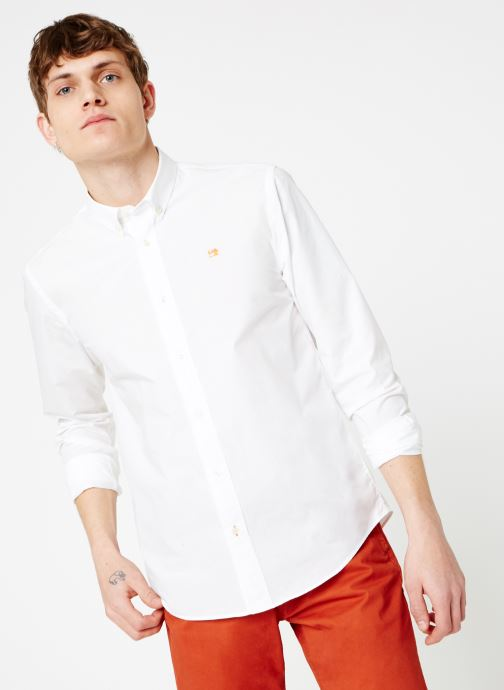 Vêtements Scotch & Soda REGULAR FIT - Classic crispy shirt Blanc vue détail/paire