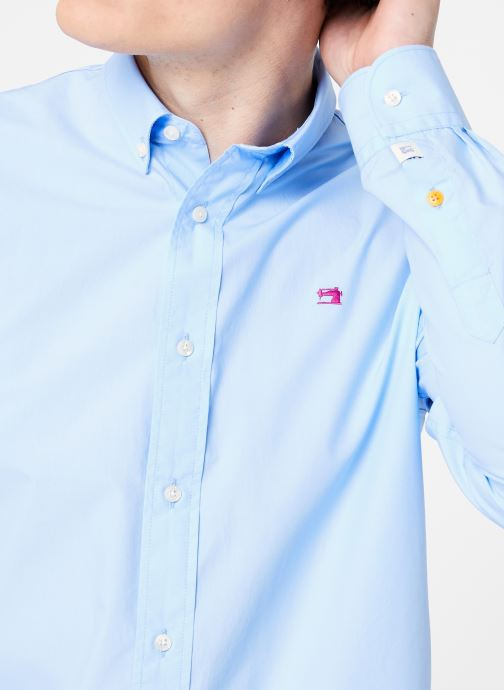 Vêtements Scotch & Soda REGULAR FIT - Classic crispy shirt Bleu vue face