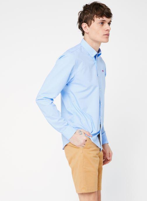 Vêtements Scotch & Soda REGULAR FIT - Classic crispy shirt Bleu vue droite