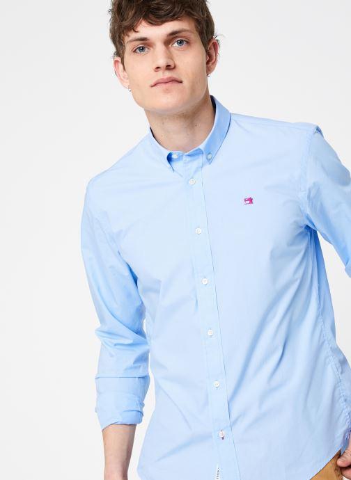 Vêtements Scotch & Soda REGULAR FIT - Classic crispy shirt Bleu vue détail/paire