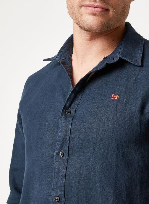 Vêtements Scotch & Soda REGULAR FIT - Garment dyed linen shirt Noir vue face