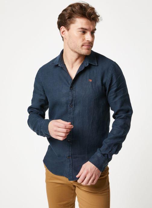 Vêtements Scotch & Soda REGULAR FIT - Garment dyed linen shirt Noir vue droite