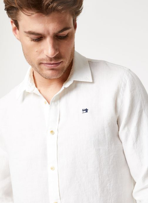 Vêtements Scotch & Soda REGULAR FIT - Garment dyed linen shirt Blanc vue face