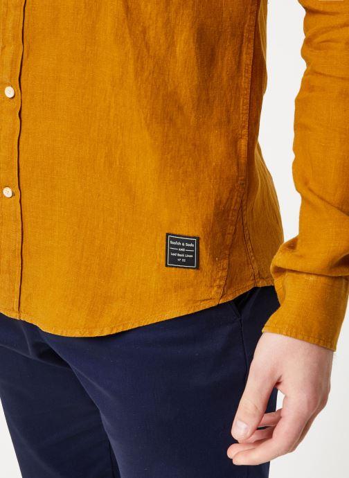 Vêtements Scotch & Soda REGULAR FIT - Garment dyed linen shirt Marron vue face