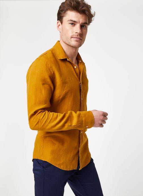 Vêtements Scotch & Soda REGULAR FIT - Garment dyed linen shirt Marron vue droite
