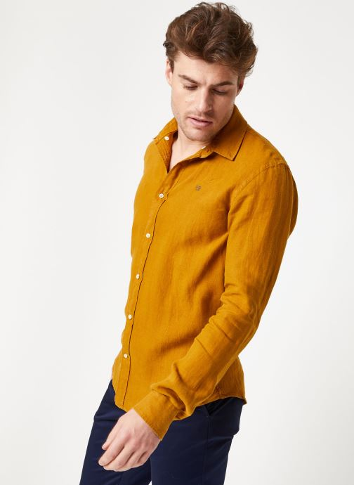 Vêtements Scotch & Soda REGULAR FIT - Garment dyed linen shirt Marron vue détail/paire