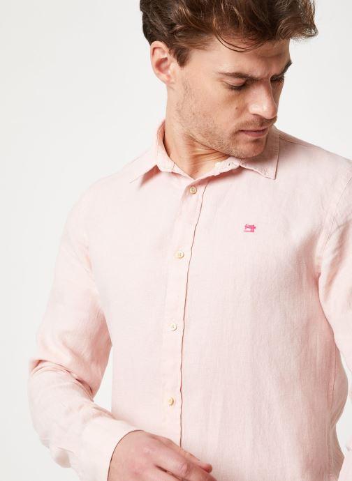 Vêtements Scotch & Soda REGULAR FIT - Garment dyed linen shirt Rose vue face