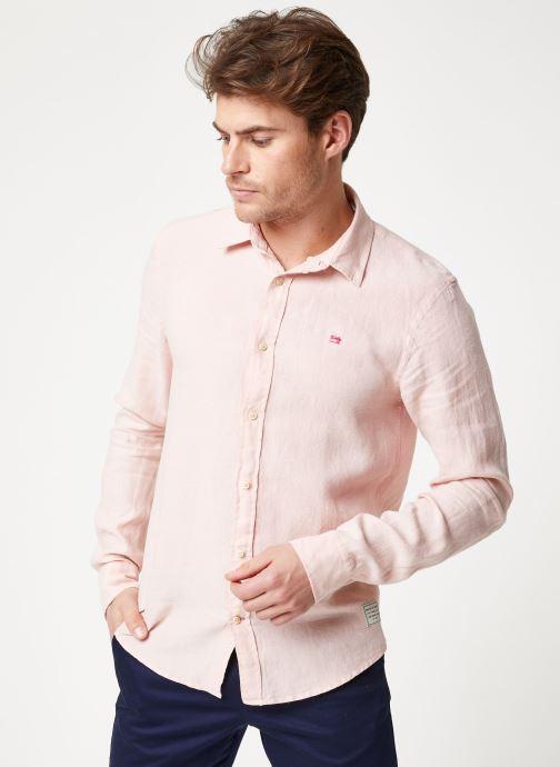 Vêtements Scotch & Soda REGULAR FIT - Garment dyed linen shirt Rose vue droite
