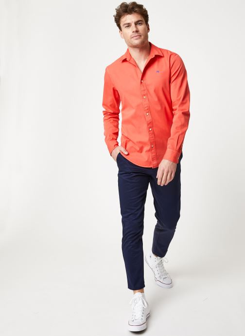 Vêtements Scotch & Soda REGULAR FIT- Classic garment dyed shirt Rouge vue bas / vue portée sac