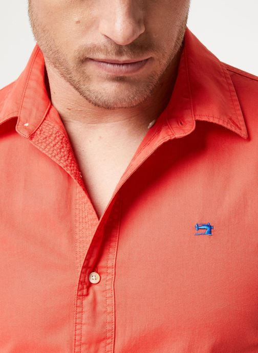 Vêtements Scotch & Soda REGULAR FIT- Classic garment dyed shirt Rouge vue face