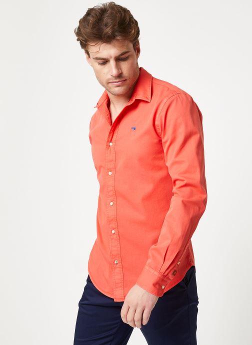 Vêtements Scotch & Soda REGULAR FIT- Classic garment dyed shirt Rouge vue droite
