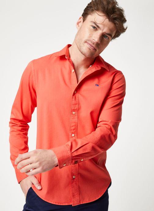 Vêtements Scotch & Soda REGULAR FIT- Classic garment dyed shirt Rouge vue détail/paire