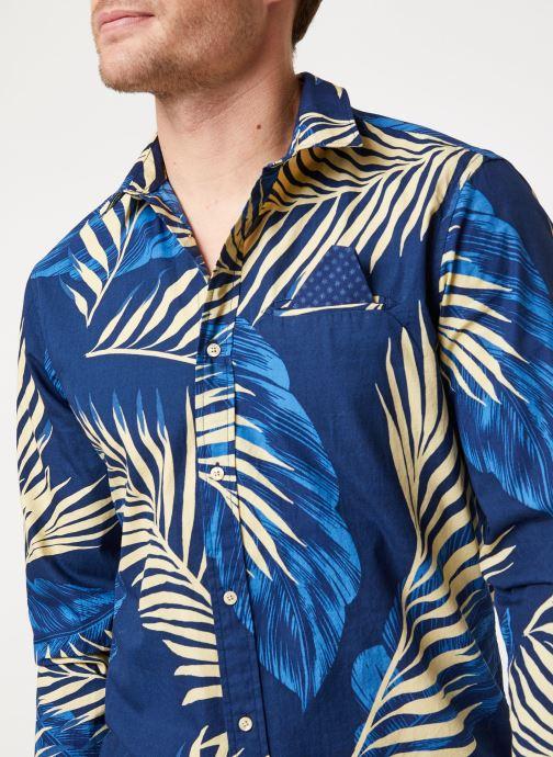 Vêtements Scotch & Soda REGULAR FIT- Shirt with sleeve collectors and fixed pochet Bleu vue face
