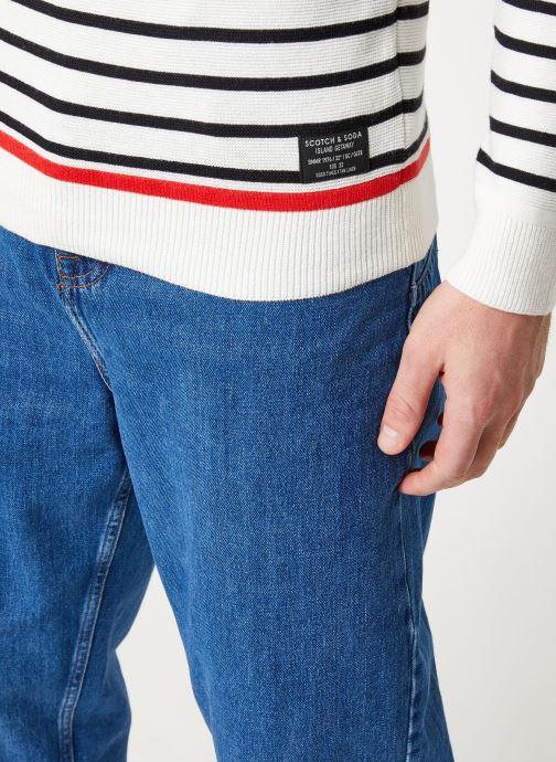 Vêtements Scotch & Soda Structured stripe pull Blanc vue face