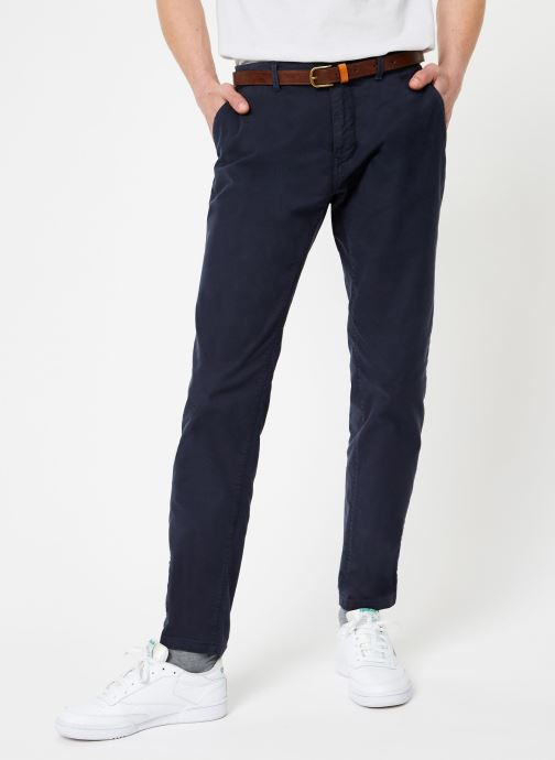 Vêtements Scotch & Soda STUART-Classic garment dyed chino Bleu vue détail/paire