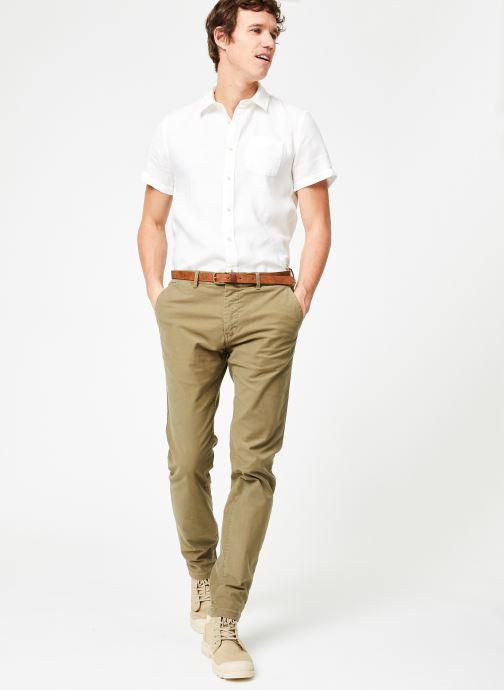 Vêtements Scotch & Soda STUART-Classic garment dyed chino Vert vue bas / vue portée sac