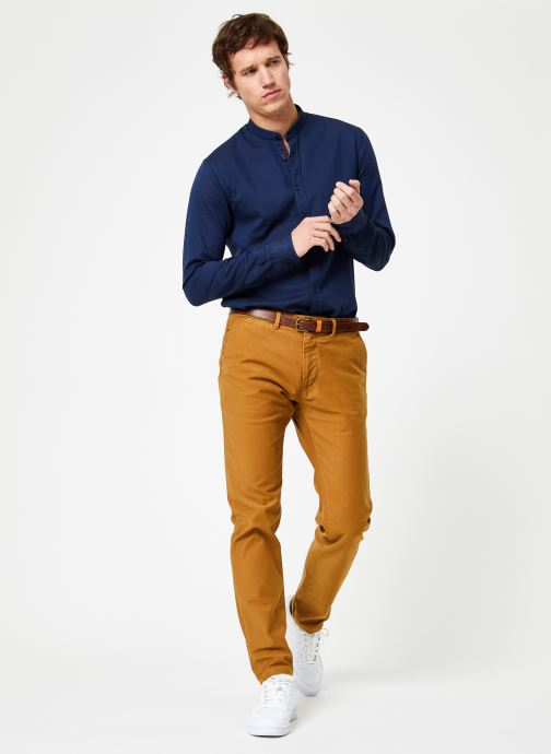 Vêtements Scotch & Soda STUART-Classic garment dyed chino Marron vue bas / vue portée sac