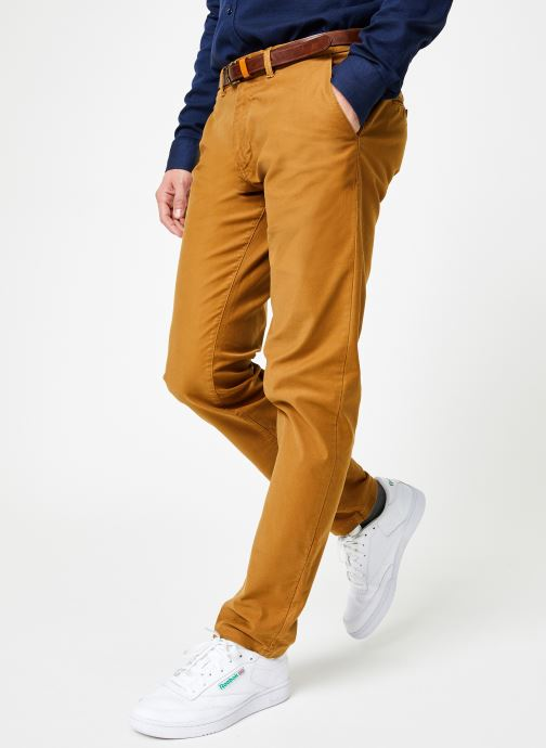 Vêtements Scotch & Soda STUART-Classic garment dyed chino Marron vue détail/paire