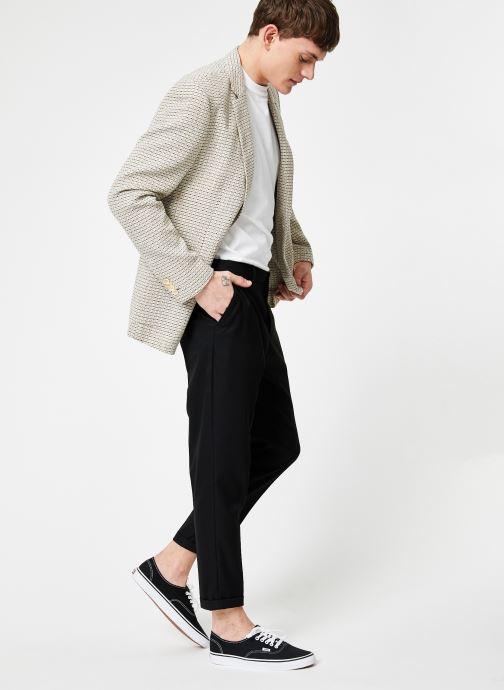 Vêtements Scotch & Soda Summer blazer in yarn-dyed structured quality Gris vue bas / vue portée sac