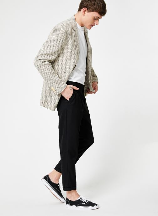 Vêtements Scotch & Soda Summer blazer in yarn-dyed structured quality Gris vue bas / vue portée sac