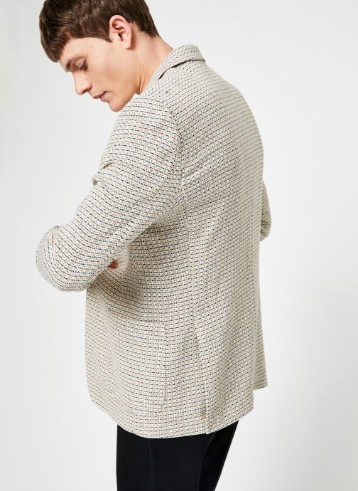 Vêtements Scotch & Soda Summer blazer in yarn-dyed structured quality Gris vue portées chaussures