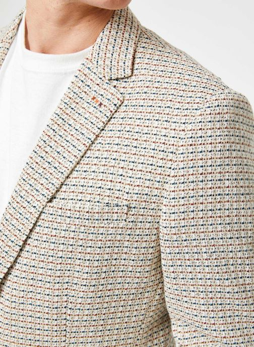 Vêtements Scotch & Soda Summer blazer in yarn-dyed structured quality Gris vue face