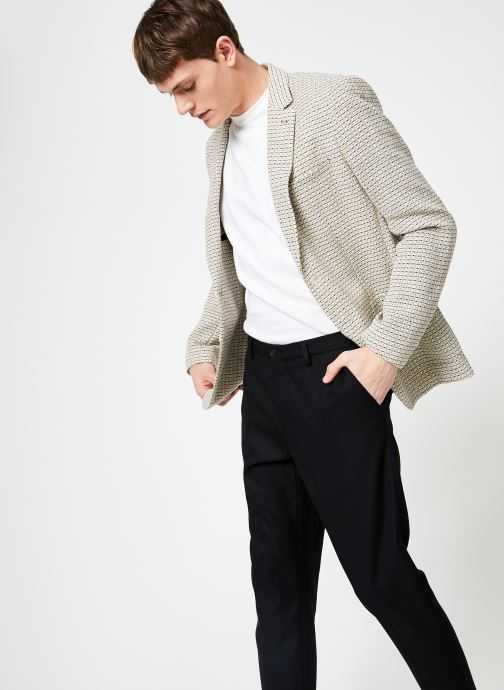 Vêtements Scotch & Soda Summer blazer in yarn-dyed structured quality Gris vue droite