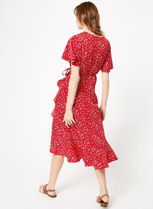 Vêtements Garance BRILLANTE Rouge vue portées chaussures