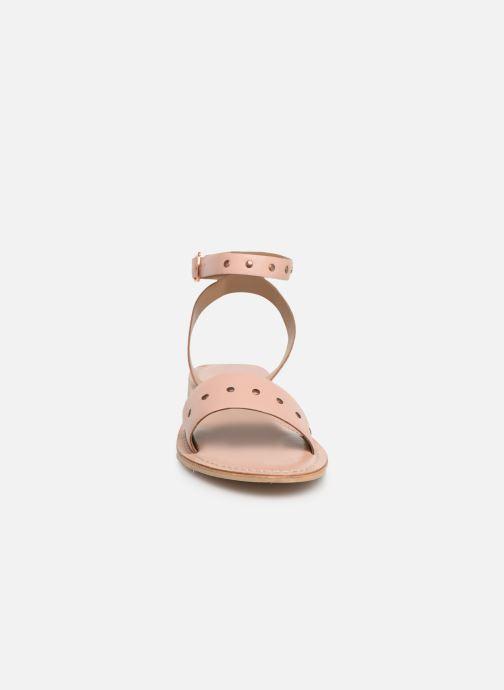 Sandalias Vero Moda Vmlouisa Leather Sandal Rosa vista del modelo