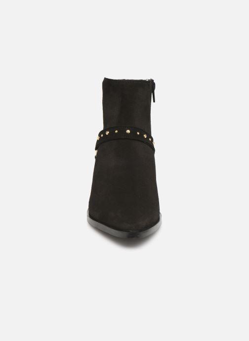Boots en enkellaarsjes Vero Moda Vmvivi Leather Boot Zwart model