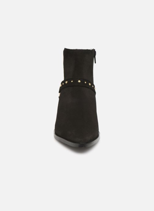 Stivaletti e tronchetti Vero Moda Vmvivi Leather Boot Nero modello indossato