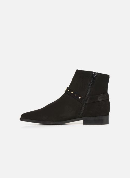 Boots en enkellaarsjes Vero Moda Vmvivi Leather Boot Zwart voorkant
