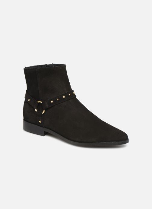 Bottines et boots Vero Moda Vmvivi Leather Boot Noir vue détail/paire