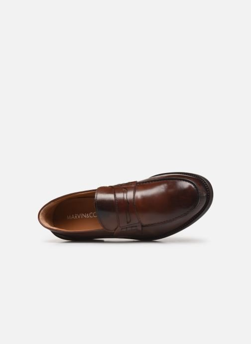 Mocassins Marvin&Co Luxe Dearman - Cousu Blake Marron vue gauche