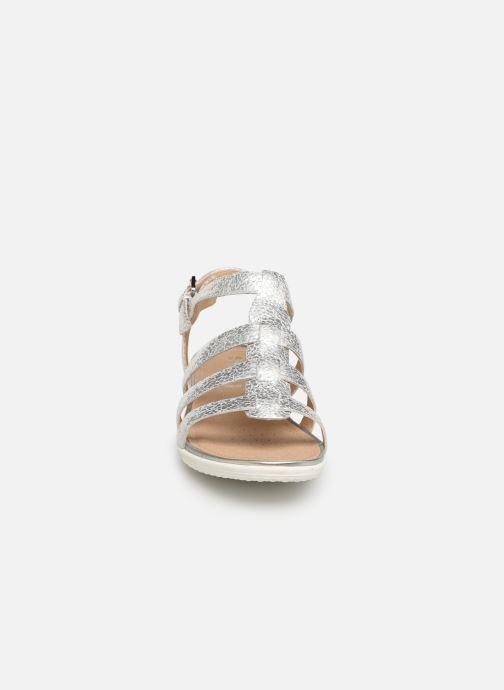 Sandales et nu-pieds Geox D SANDAL VEGA A D72R6A Argent vue portées chaussures