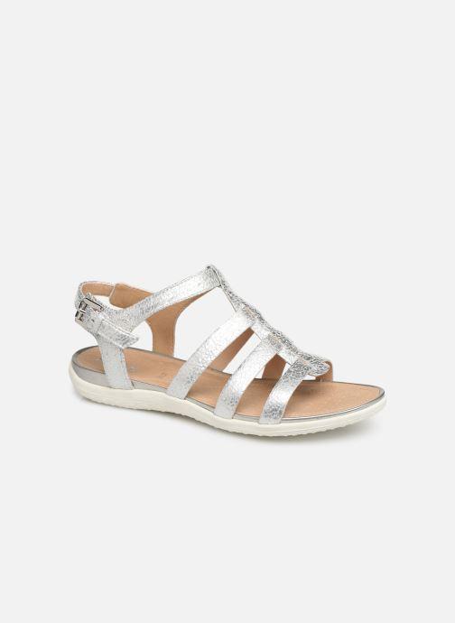 Sandales et nu-pieds Geox D SANDAL VEGA A D72R6A Argent vue détail/paire
