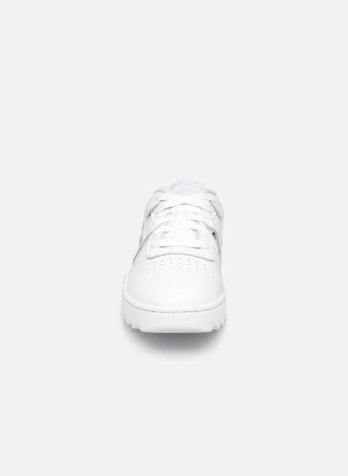 Baskets Reebok Workout Ripple Og Blanc vue portées chaussures