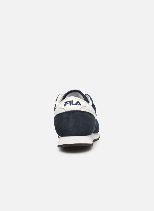 Baskets FILA Orbit Jogger N Low Bleu vue droite
