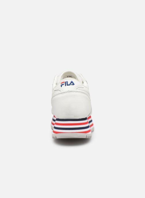 Baskets FILA Orbit Zeppa Stripe Wmn Blanc vue droite