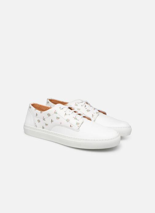 Sneakers Mr SARENZA Mr Sarenza x Cuisse de Grenouille Basket Vahinés Wit achterkant