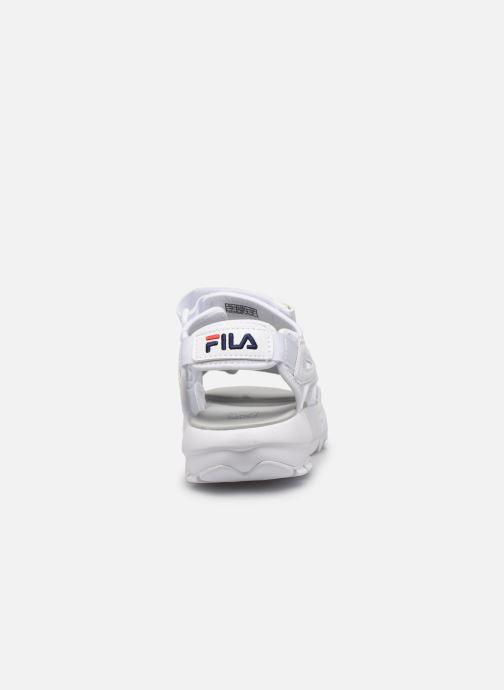 Sandalias FILA Disruptor Sandal Wmn Blanco vista lateral derecha