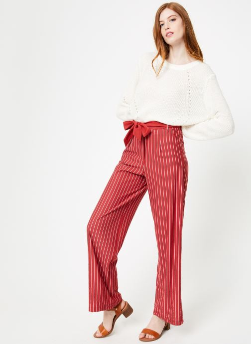 Vêtements Yuka Pantalon Sydney Rouge vue bas / vue portée sac
