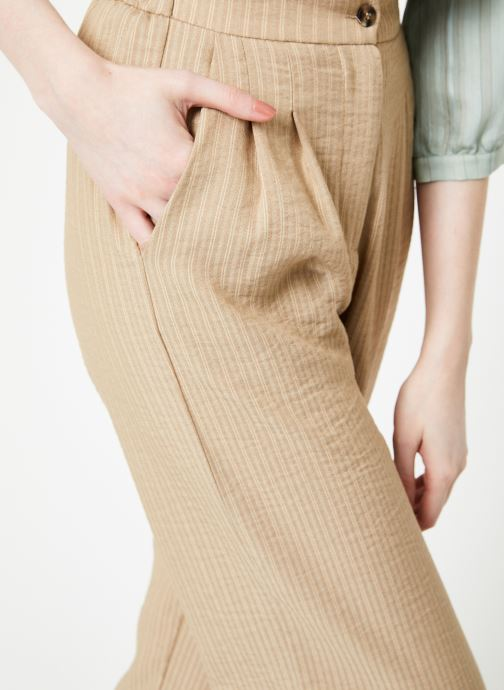 Vêtements Yuka Pantalon Ysia Beige vue face