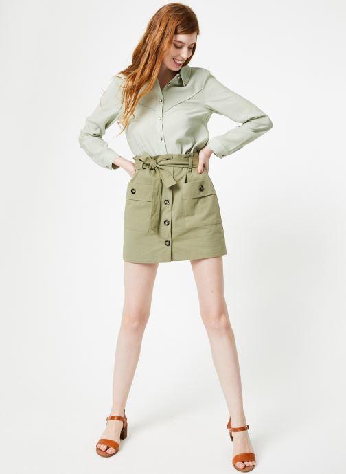 Vêtements Yuka Jupe Rebecca Vert vue bas / vue portée sac