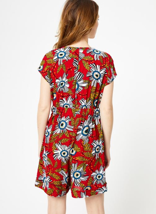 Vêtements Yuka Combinaison Flora Rouge vue portées chaussures