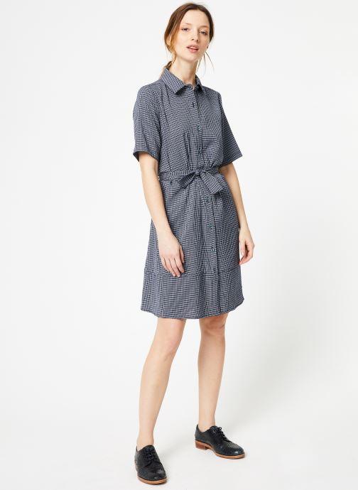 Vêtements Yuka Robe Lucia Bleu vue bas / vue portée sac