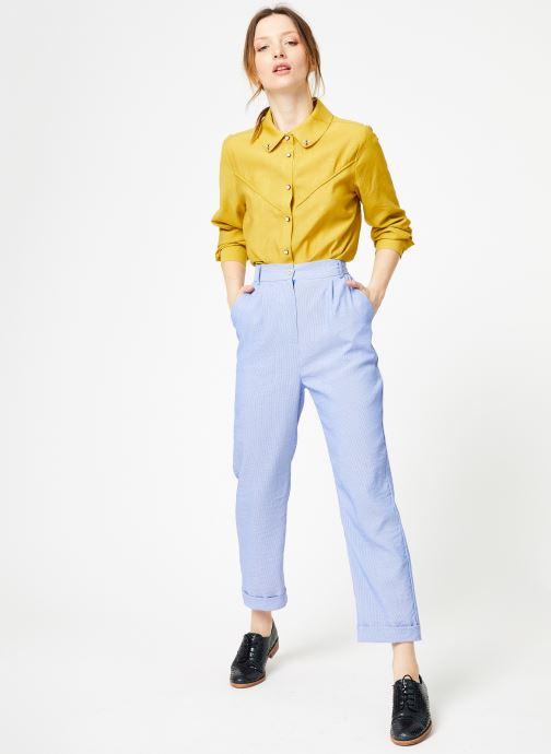 Vêtements Yuka Chemise Oceane Jaune vue bas / vue portée sac