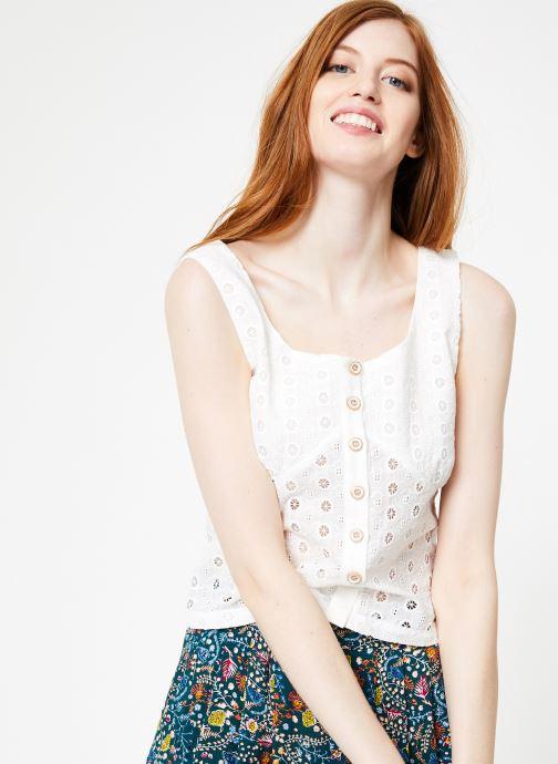 Vêtements Yuka Top Maya Blanc vue détail/paire